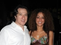 Federico Castelluccio and Yvonne Maria Schaefer attend the Bebe Buell Concert